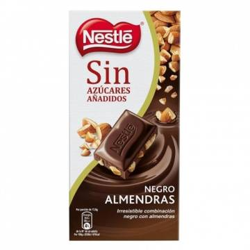 DARK CHOCOLATE WITH ALMONDS WITHOUT SUGAR 125G NESTLÉ
