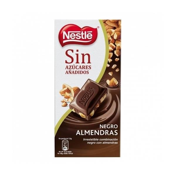 CHOCOLATE NEGRO CON ALMENDRAS SIN AZÚCAR 125G NESTLÉ