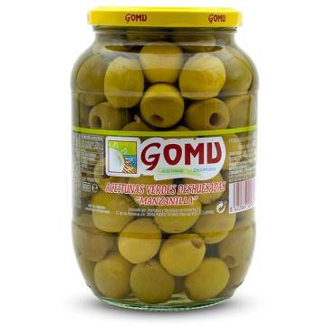 PITTED MANZANILLA OLIVES 800G GOMU