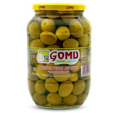 WHOLE MANZANILLA OLIVES 800G GOMU
