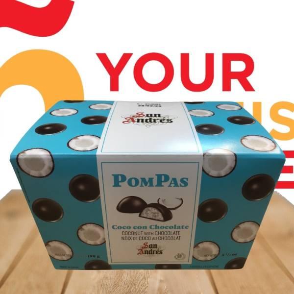 POMPAS COCO CON CHOCOLATE 150G SAN ANDRES