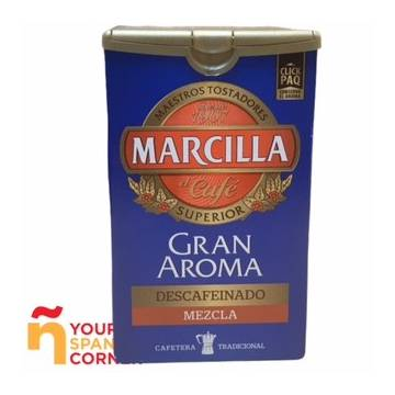 DECAFFEINATED GROUND MIXED COFFEE GRAN AROMA 200G MARCILLA