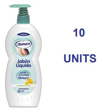 "LIQUID SOAP - SHOWER GEL WITH DISPENSER PUMP 10 UNITS ""NENUCO"""